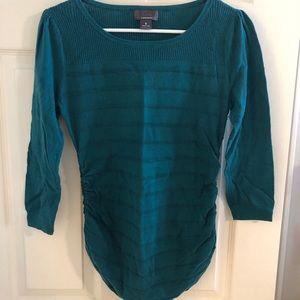 Teal 3/4 sleeve sweater